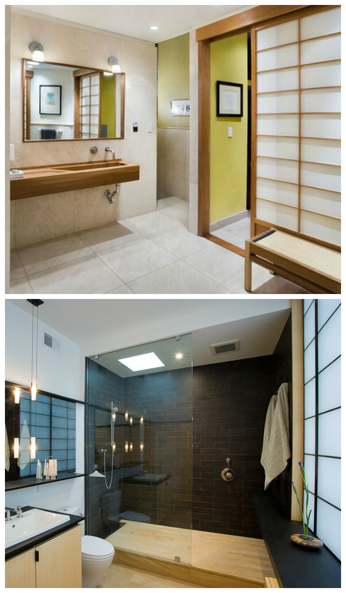 Дизайн ванной в японском стиле