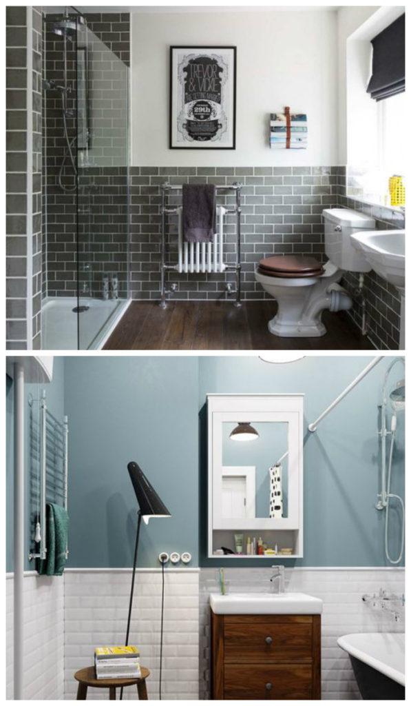 Скандинавский дизайн ванной 2017