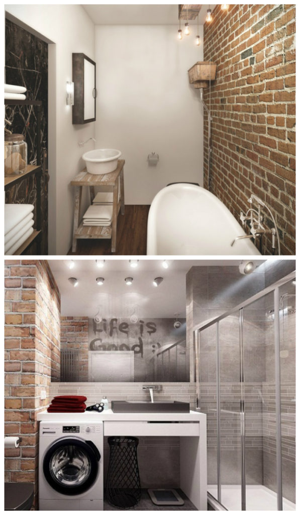 Лофт дизайн ванной 2017