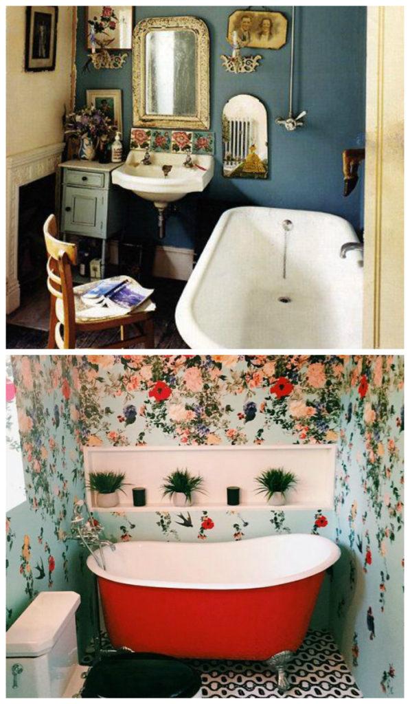 Ретро дизайн ванной 2017