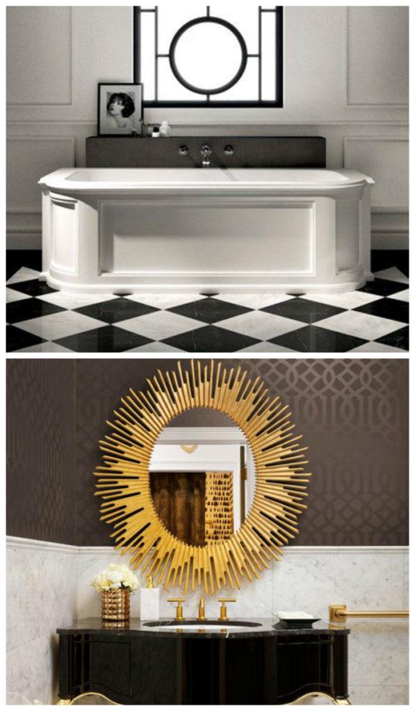 Ванная комната арт-деко 2017