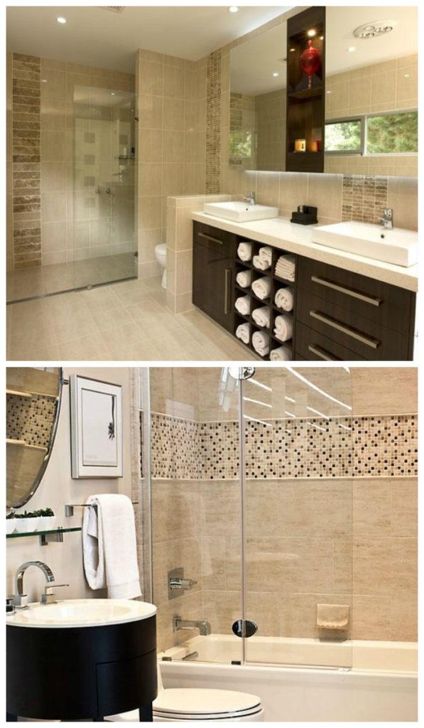 Ванная комната в бежевых тонах 2017