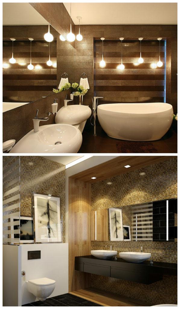 Стильное цветовое решение для ванной комнаты