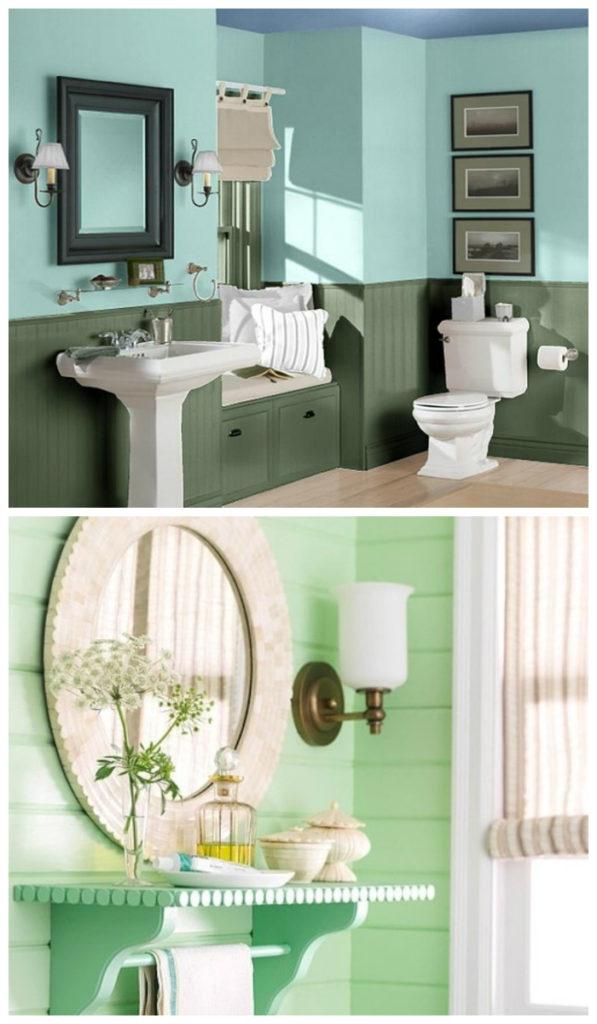 Яркие цвета в дизайне ванной