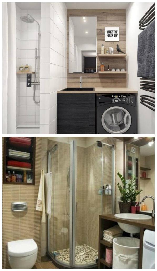 Дизайн небольшой ванной 2017, фото