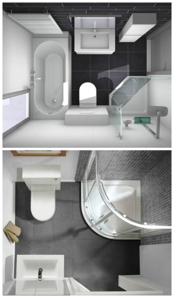 Дизайн ванной маленькой комнаты - 80 фото идей 2018 27