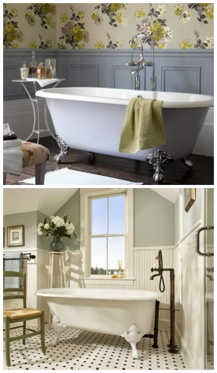 Дизайн ванной комнаты в ретро стиле
