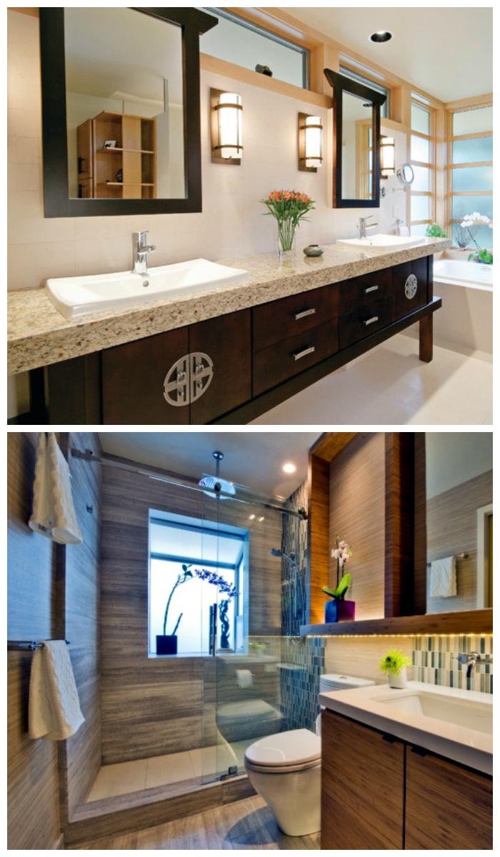 Дизайн ванной комнаты в азиатском стиле
