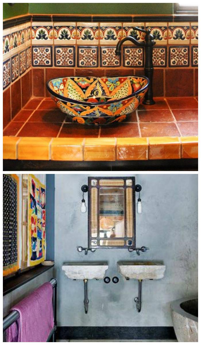 Дизайн ванной комнаты в этническом стиле
