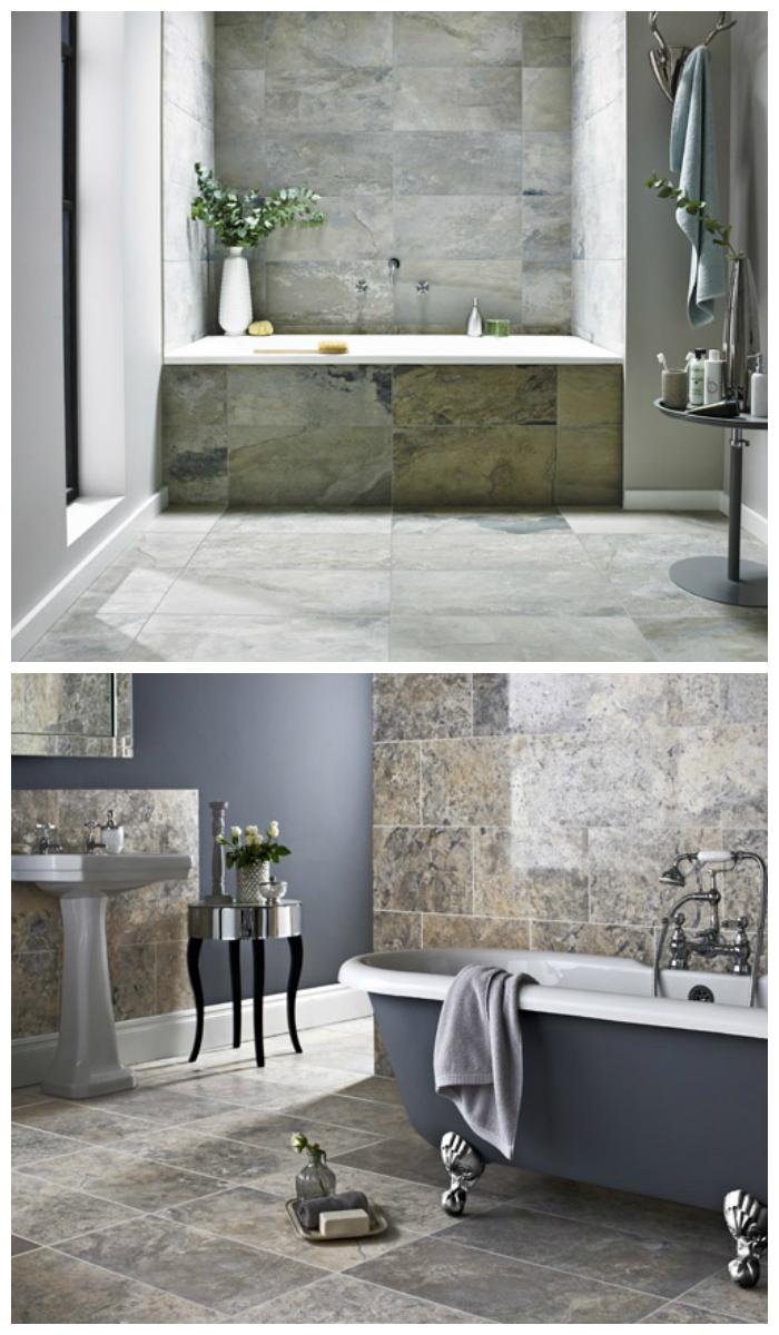 Облицовка стен и потолка плиткой из натурального камня или керамогранитом в одной цветовой гамме