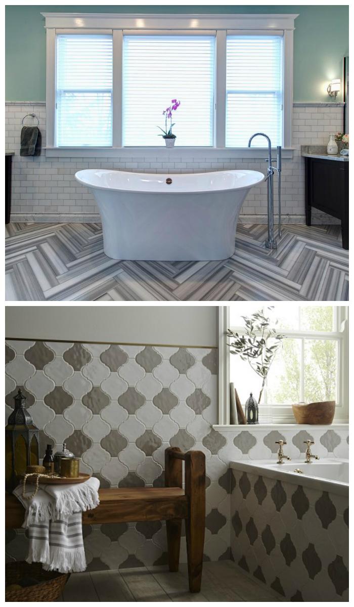 Интересные варианты кафельной плитки для ванной