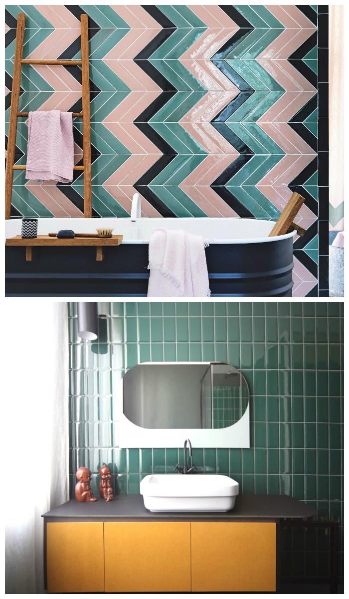 Интересные ванрианты кафельной плитки для ванной