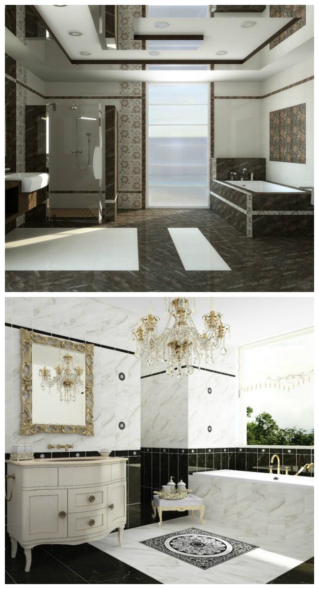 Каталог кафельной плитки для ванной: дизайн интерьера, фото