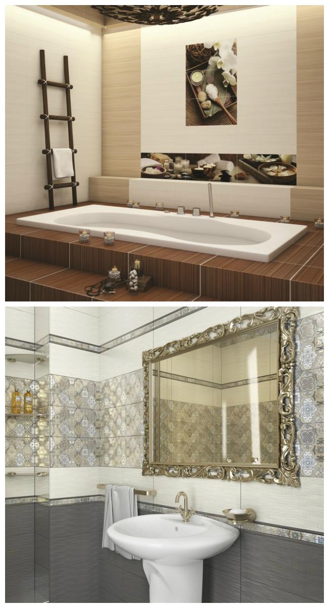 Плитка для ванной Уралкерамика, фото дизайна интерьера