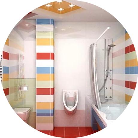 Интерьер совмещенной ванной