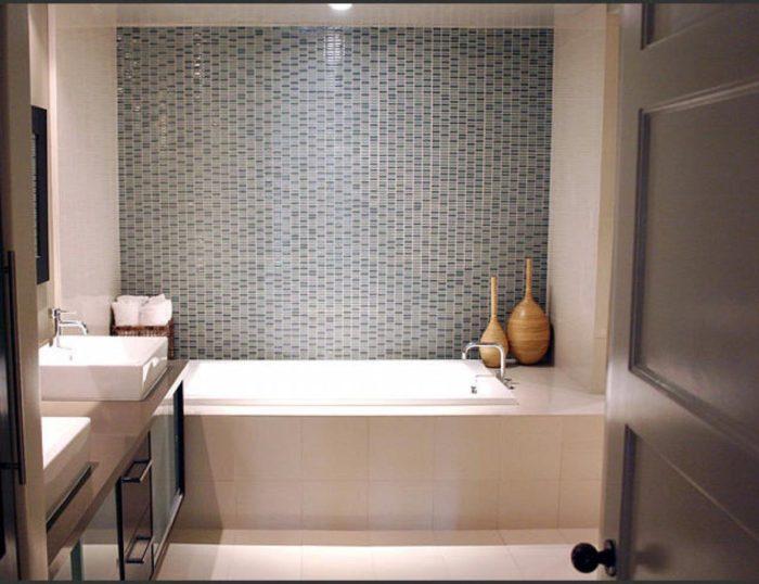 идея для маленькой ванной комнаты без туалета
