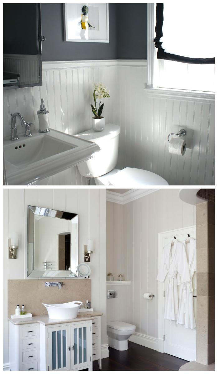 Современный интерьер ванной комнаты с пластиковыми панелями