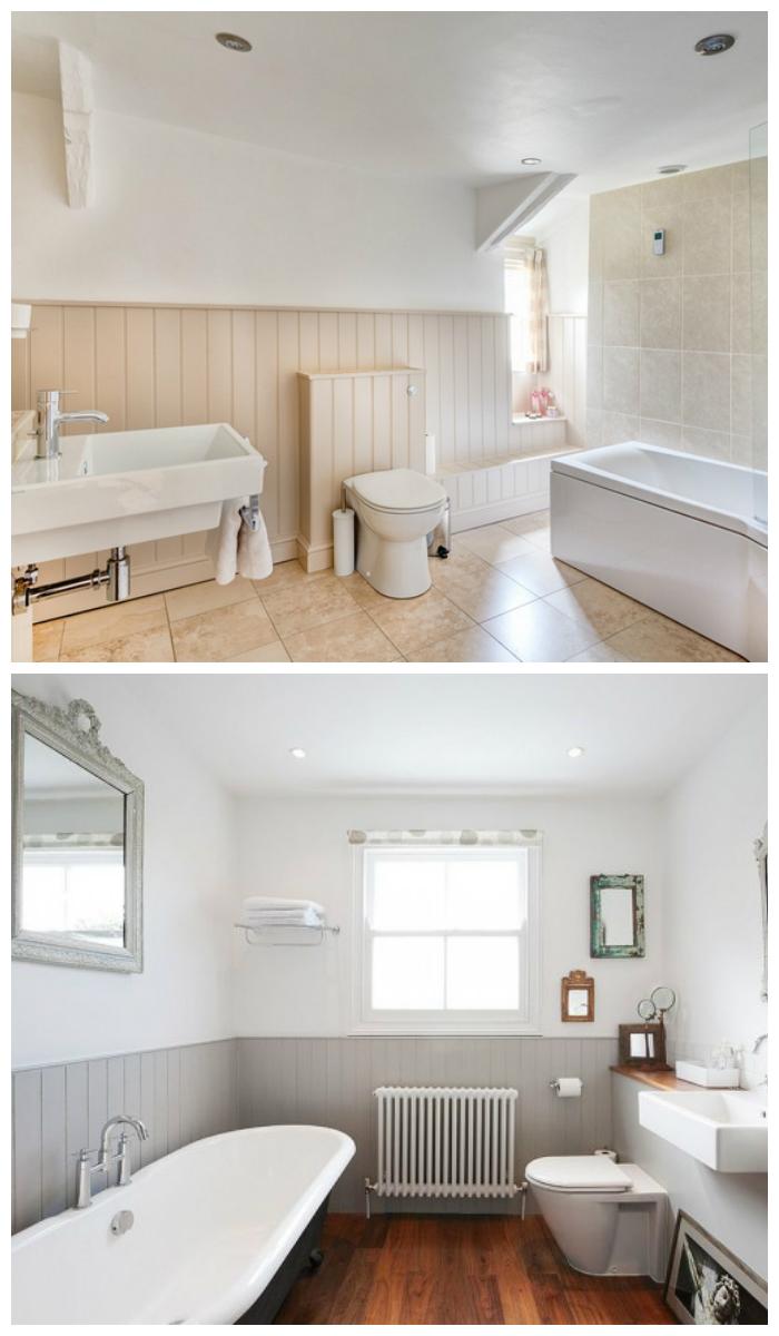 Фото отделки ванной комнаты пластиковыми панелями