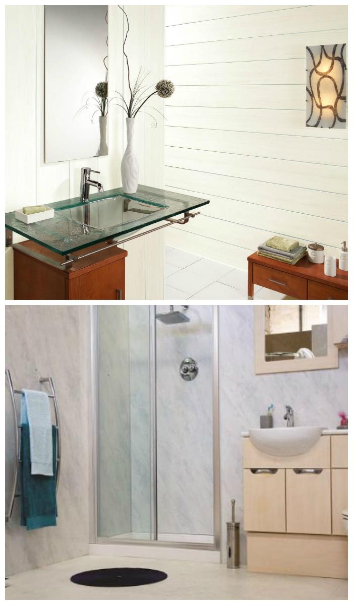 Современный дизайн ванной с панелями