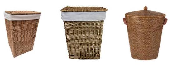 плетеная корзина для ванной