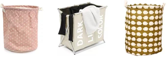 Тканевая корзина для белья