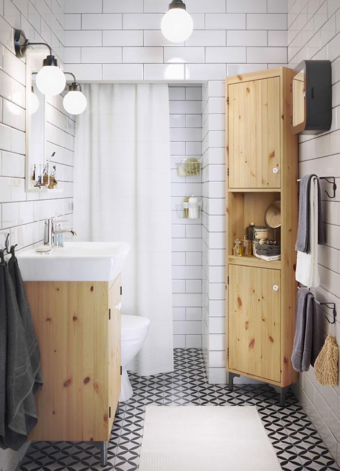 дизайн ванной в стиле дерево