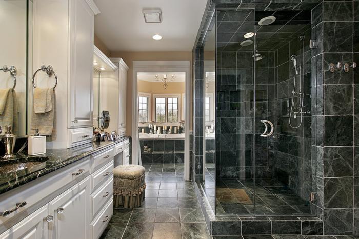 Дизайн ванной с душевой кабиной: 30 современных вариантов
