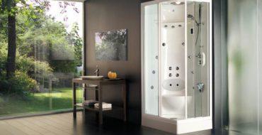 фото дизайна ванной комнаты с душевой кабиной