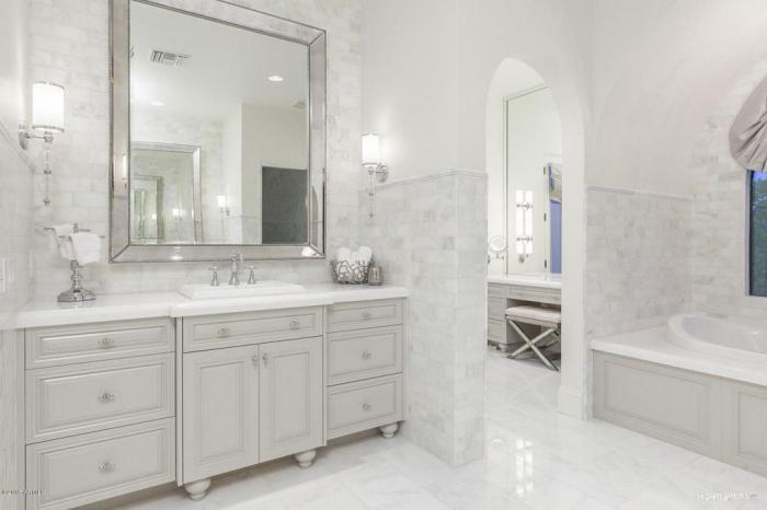 Дизайн ванной комнаты в классическом стиле с фото