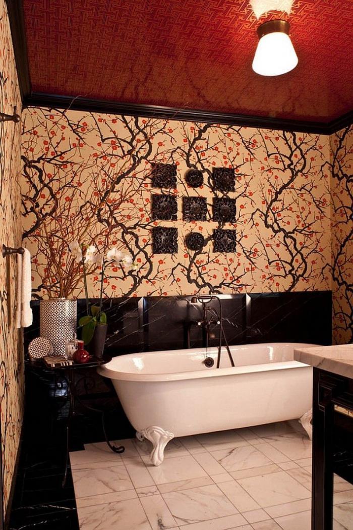 Натяжной потолок в ванной комнате – варианты дизайна с фото