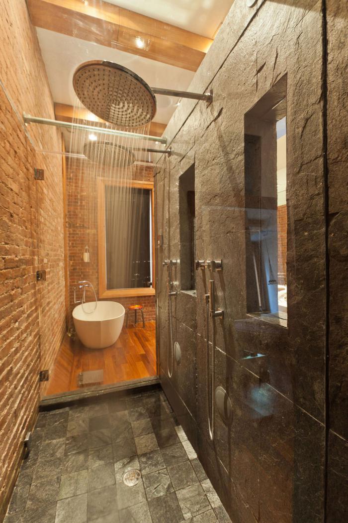 Ванная в стиле лофт – промышленный дизайн с налётом гламура