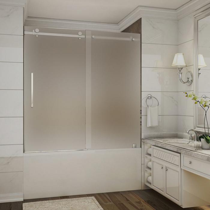фото стеклянной шторки для ванной